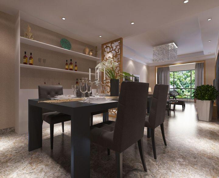 餐厅灰色餐桌现代风格装修设计图片