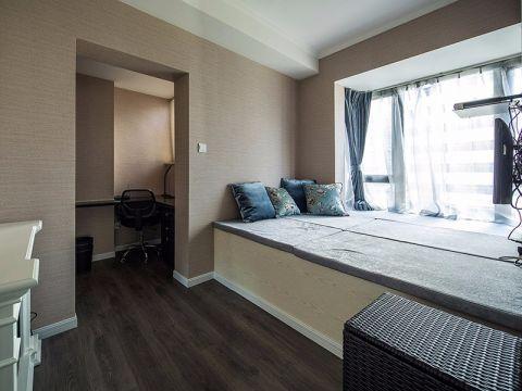 卧室蓝色窗帘欧式风格效果图