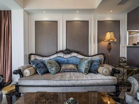 客厅灰色沙发欧式风格装饰效果图