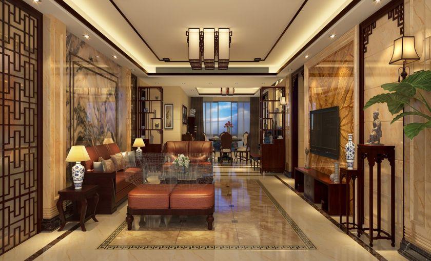 180平方中式风格4室2厅套房装修效果图