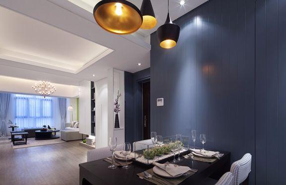 餐厅黑色餐桌现代风格装潢设计图片