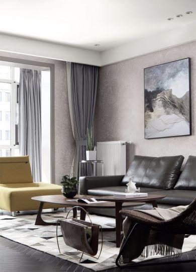 精美绝伦现代简约黑色沙发装修图