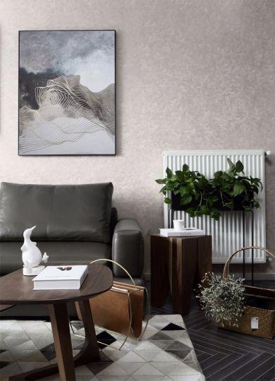 现代简约客厅茶几装修实景图