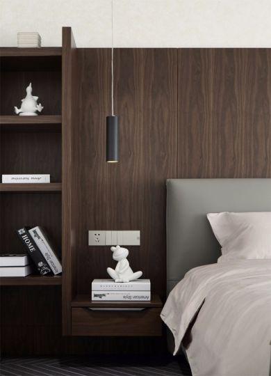 清新素丽卧室现代简约家装设计图