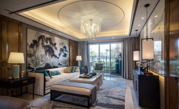 2019中式110平米装修设计 2019中式三居室装修设计图片
