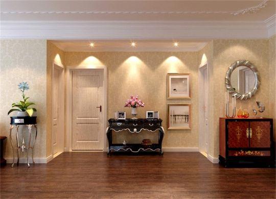 客厅咖啡色走廊欧式风格装饰设计图片