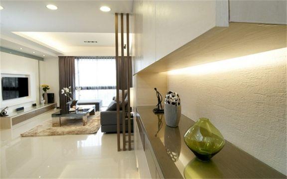淡雅咖啡色客厅设计方案
