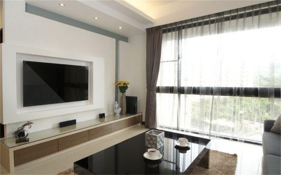 休闲客厅窗帘设计效果图
