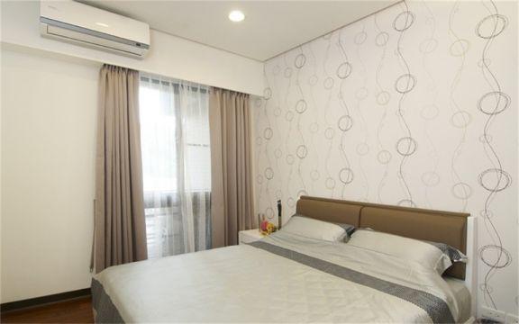 现代简约卧室窗帘装修方案