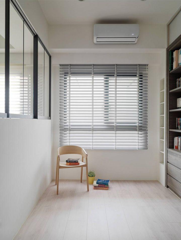 书房咖啡色地板砖北欧风格装饰效果图
