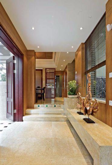 玄关白色吊顶东南亚风格装潢图片
