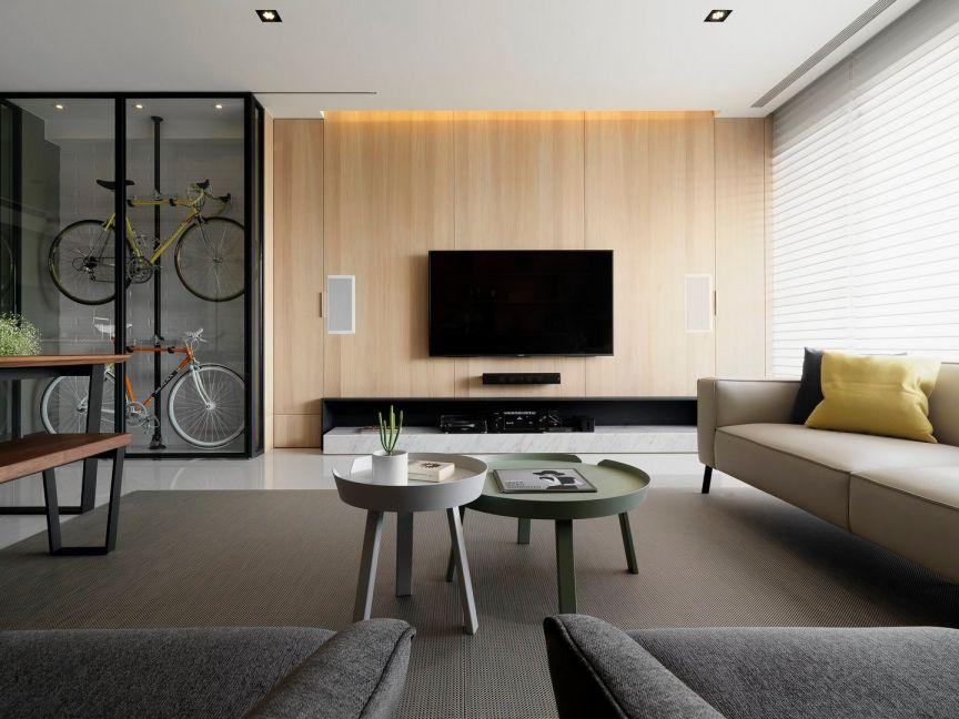 客厅彩色茶几现代风格装修图片