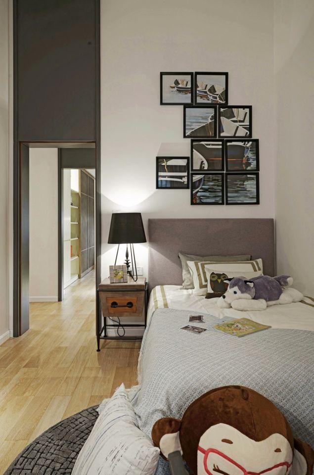 儿童房白色照片墙现代风格效果图