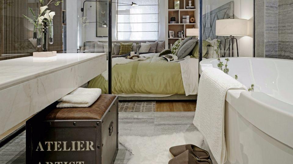 浴室白色洗漱台装修图
