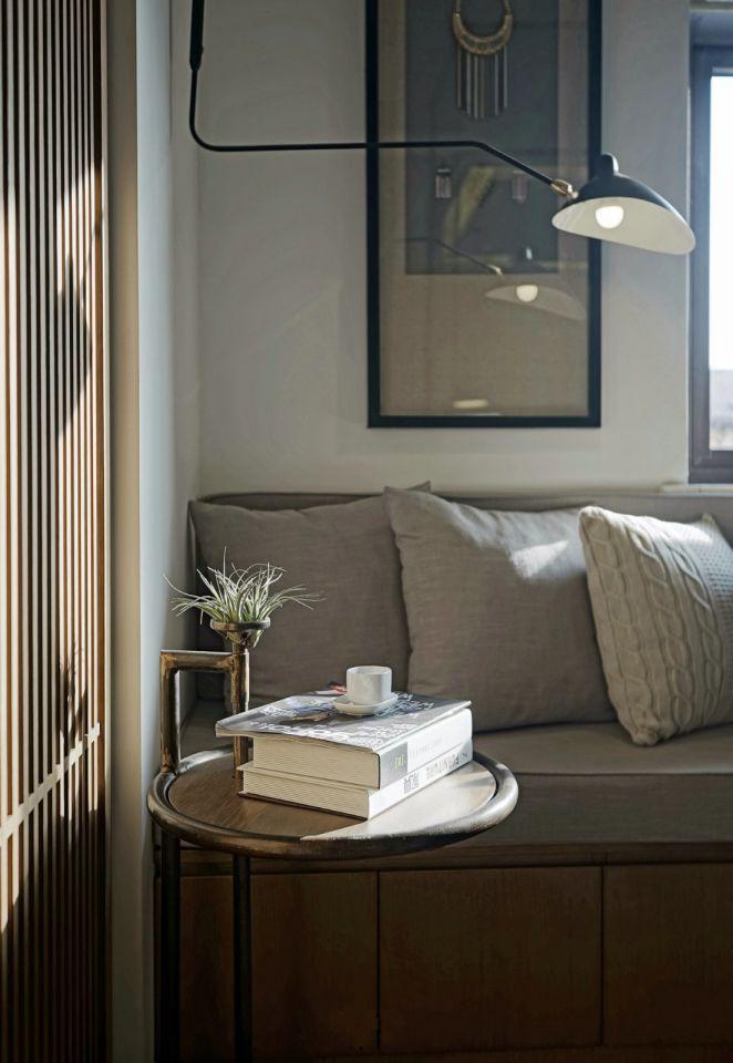 清新素丽现代灰色沙发设计