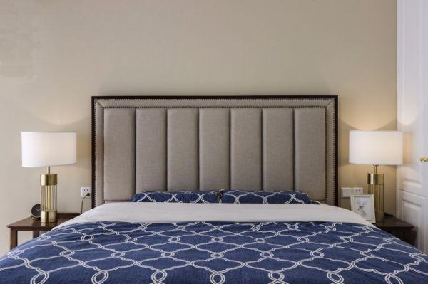 卧室灰色床美式风格装饰效果图