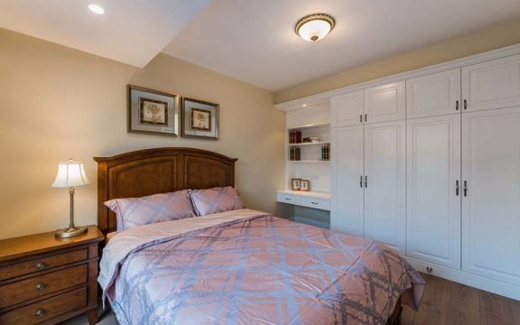 2019美式卧室装修设计图片 2019美式照片墙装修效果图大全
