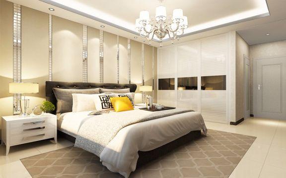 卧室白色床头柜现代风格装修效果图