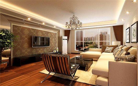 客厅黑色茶几现代风格装修图片