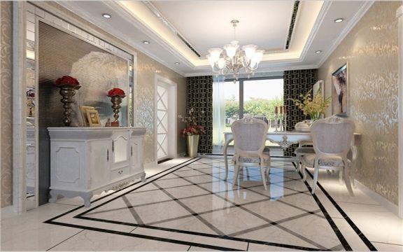 新古典风格141平米三室两厅新房装修效果图
