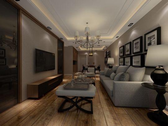 现代简约风格89平米套房室内装修效果图
