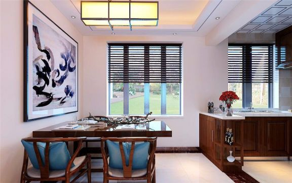 餐厅餐桌新中式风格装修设计图片