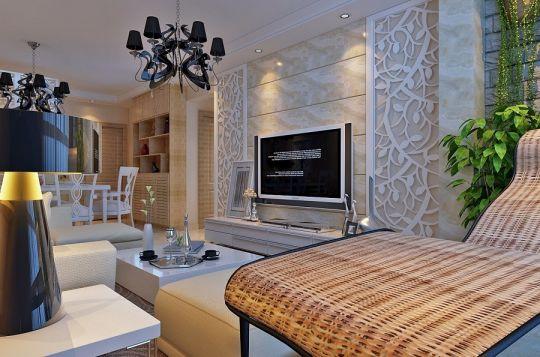 客厅电视柜现代风格装潢设计图片