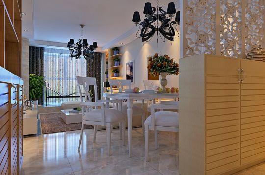 餐厅餐桌现代风格效果图