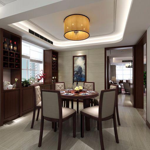 餐厅餐桌新中式风格装饰图片