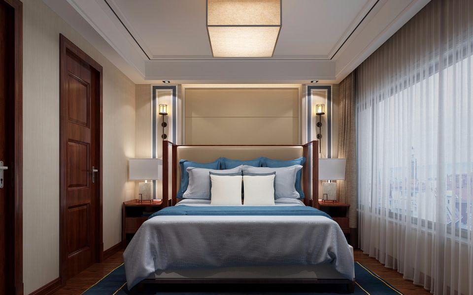 卧室床头柜新中式风格装饰图片