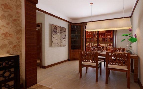 餐厅餐桌东南亚风格装潢设计图片