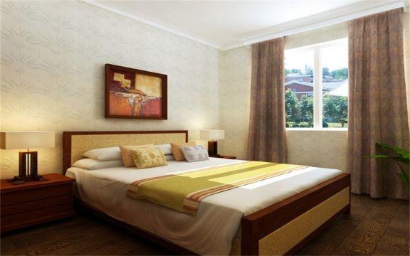 卧室床头柜东南亚风格效果图