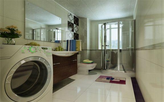 卫生间洗漱台东南亚风格装潢效果图