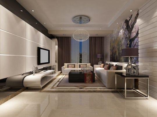 客厅沙发现代风格装潢效果图