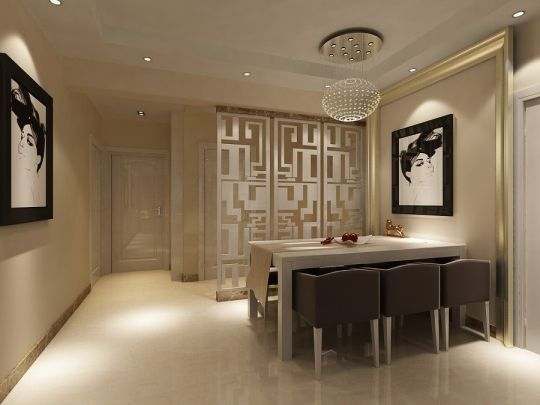 餐厅餐桌现代风格装饰图片
