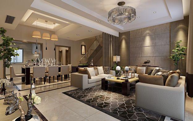 现代风格190平米复式室内装修效果图