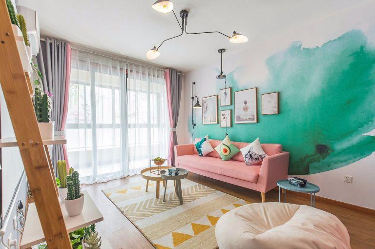 客厅照片墙简单风格装饰设计图片