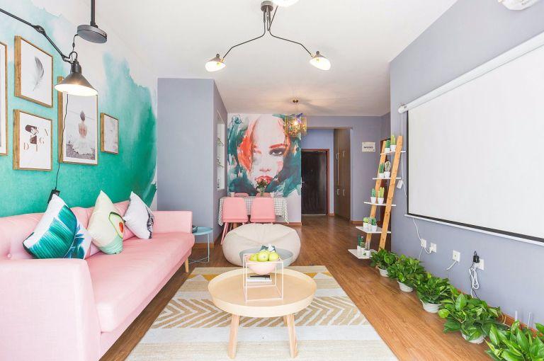 客厅地板砖简单风格效果图