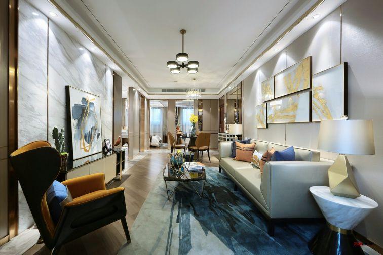 客厅茶几现代简约风格装潢图片
