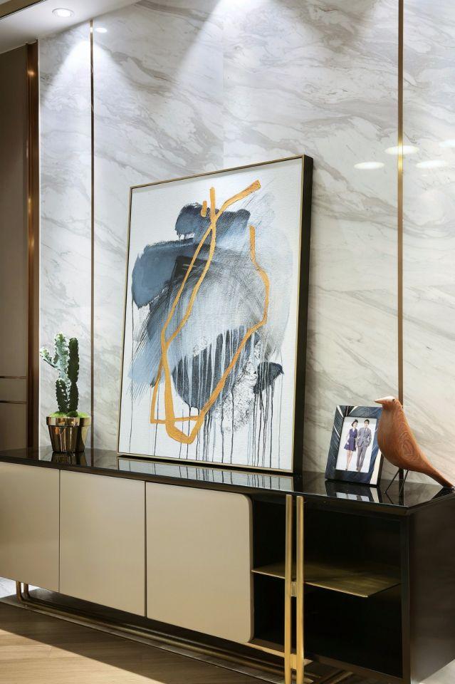客厅电视柜现代简约风格装潢设计图片