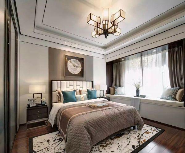 卧室白色飘窗效果图图片