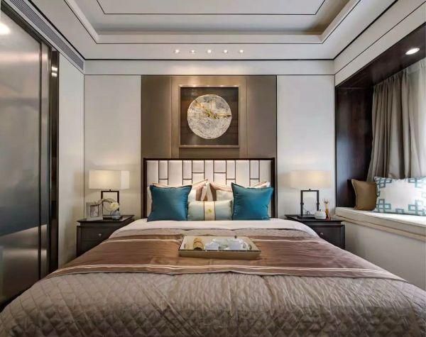 卧室床新中式家居装修方案