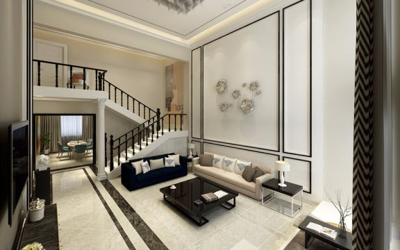 现代简约客厅茶几装饰图片