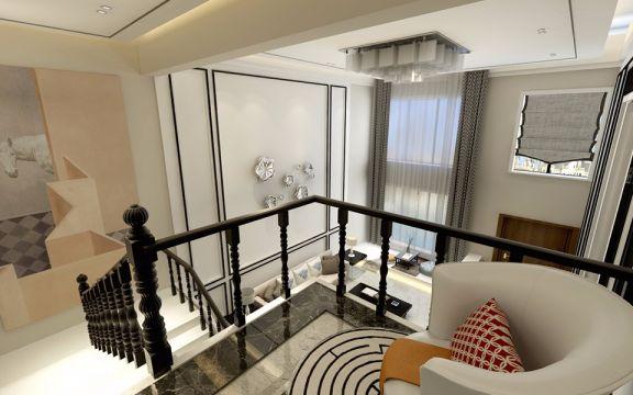 客厅灰色窗帘现代简约风格装修设计图片