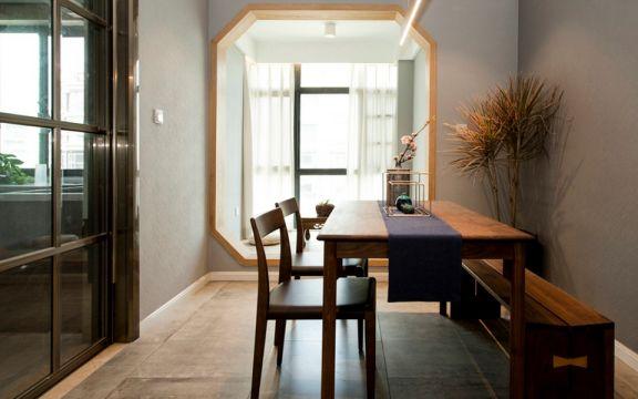 餐厅咖啡色餐桌新中式风格装修设计图片