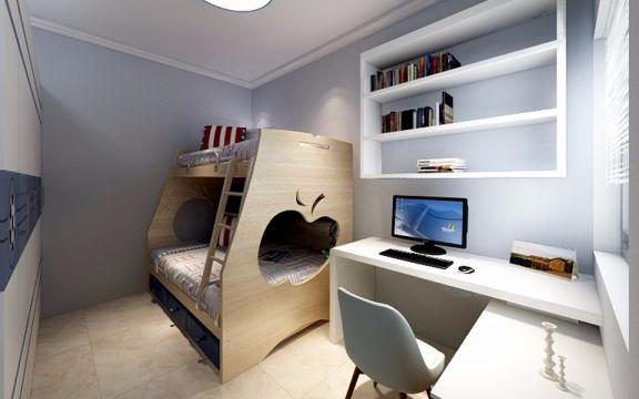 儿童房黄色床现代简约风格装修效果图