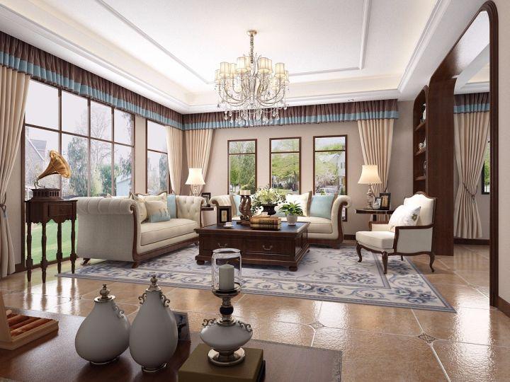 美式风格570平米别墅室内装修效果图