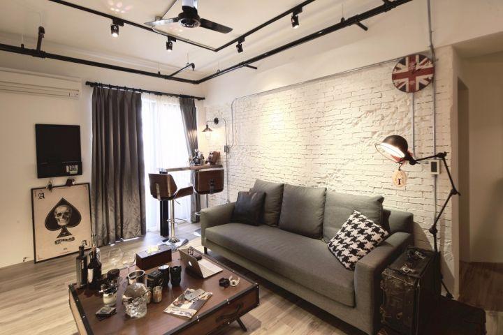 现代风格60平米两室两厅新房装修效果图