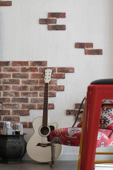 优雅简欧白色背景墙设计图片