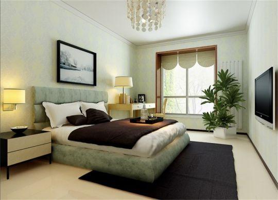 卧室白色床头柜简约风格装修设计图片